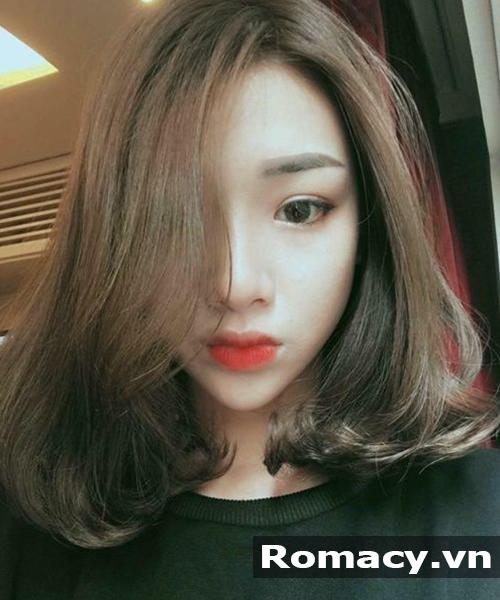 Tóc ngắn ngang vai uốn xoăn Hàn Quốc