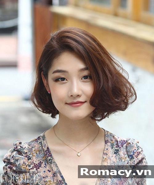 kiểu tóc ngắn bob uốn xoăn đẹp 2018
