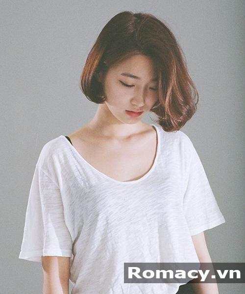 kiểu tóc ngắn uốn phồng cụp đẹp 2018