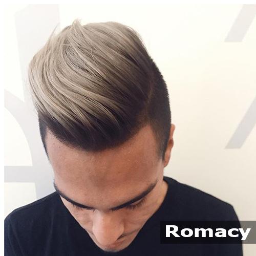tóc nam màu nâu khói
